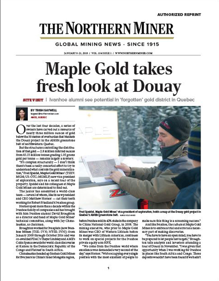 maple gold takes fresh look at douay